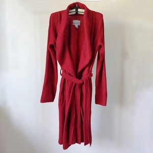 Kenar Long Wool Wrap Belted Cardigan Size 6
